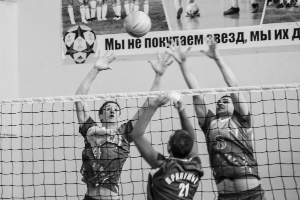 А. Шашов и А.Ганущак на блоке